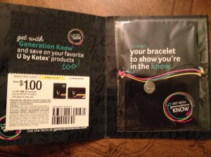 Kotex In The Know Braclet