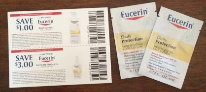 Eucerin Sample & Coupons