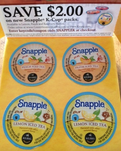 Free Snapple K Cup Sampler!