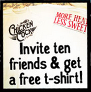 Chicken Cock Whiskey FREE T-shirt